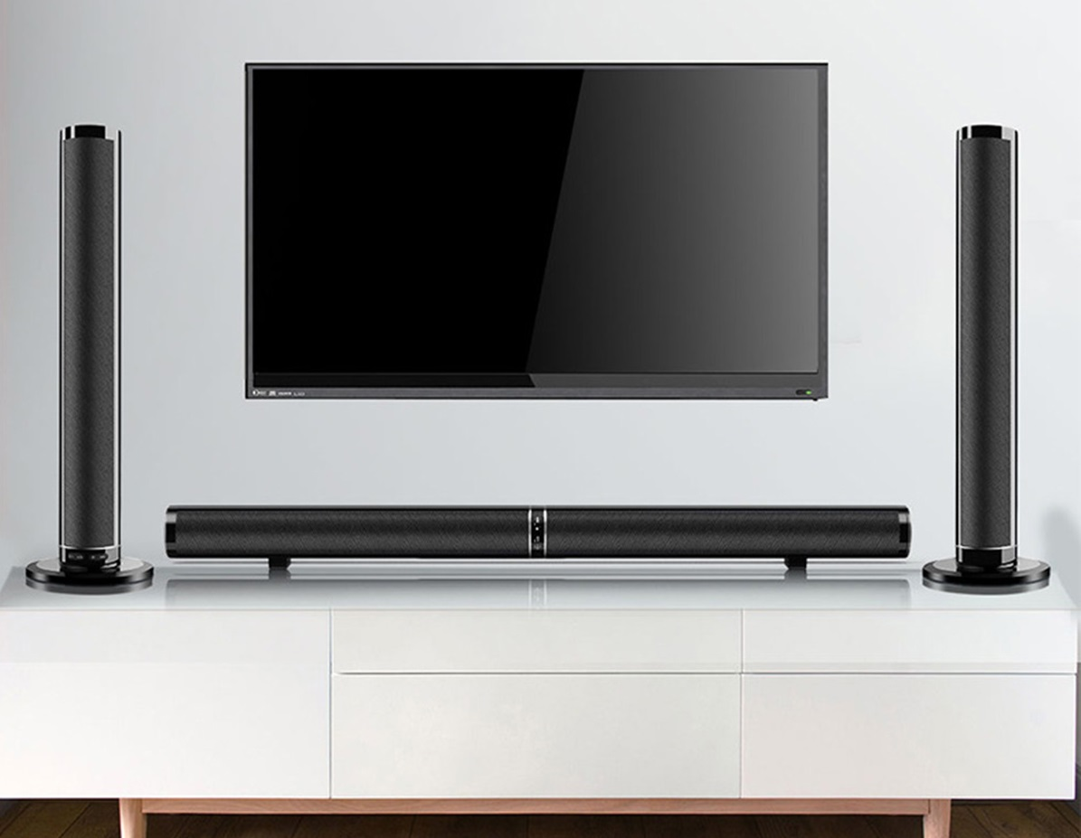 Connect external speakers to the TV without audio output